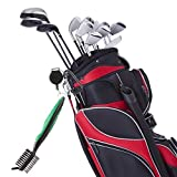 NKTM-Golf-Brush-Club-Groove-Cleaner-Nylon-and-Wire-Bristles-Dual-sided-Brush-258-In-Retractable-Zip-line-Carabiner-Ergonomic-Design-Lightweight-Easily-Attaches-to-Golf-Bag