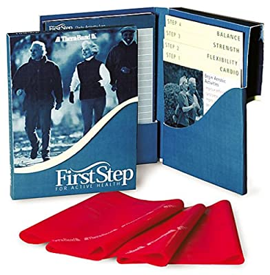 TheraBand First Step to Active Health Kit, Customizable Exercise Program For Older Adults, Improved Balance and Fall Prevention, Starter Kit with a Light Resistance Band and Complete Activity Regimen