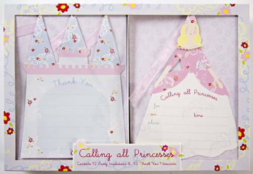 Meri Meri Princess Boxed Invites and Thank You Set Note Cards