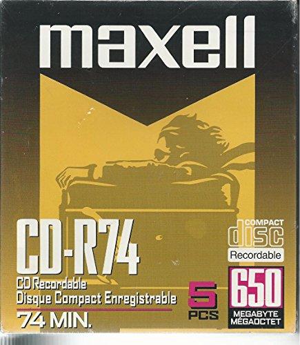 Maxell Digital Media CD-R 74-Minute  (5-Pack)