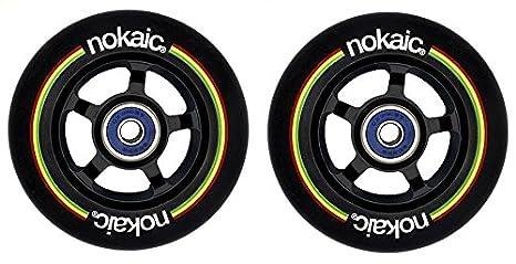 Pack de dos ruedas NOKAIC para patinetes scooters de 100mm ...