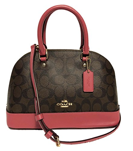 Shoulder Mini Satchel Sierra Handbag Women��s Rouge Purse Coach Shoulder Brown Inclined fatn1q