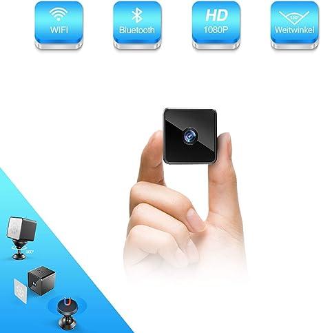 Mini WIFI IP Kamera 1080P Überwachungkamera Bewegungsmelder Nachtsicht Weitwinke