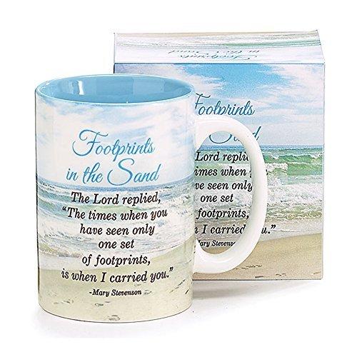 Mug Footprints (Footsteps In The Sand Poem By Mary Stevenson)