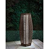 69cm Venice Brown Rattan Effect Traditional Garden Floor Lamp