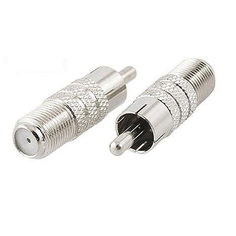 httx F Tipo hembra a RCA macho coaxial Cable coaxial de audio adaptador conector (6