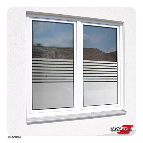 Fensterfolie Sonnenschutzfolie blickdicht Sichtschutzfolie Glasdekorfolie Stripes + kostenlose Maßanfertigung - siehe 2. Produktbild