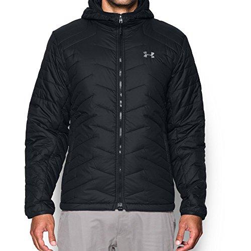 Under Armour Men's ColdGear Reactor Hooded Jacket, Black/Black, XXX-Large