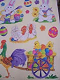 Easter Window Clings ~ Country Easter (13 Clings, 1 Sheet)