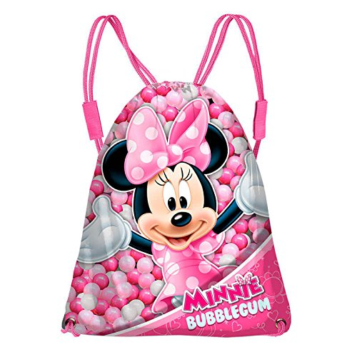 Karactermania Minnie Mouse Bubblegum Bolsas con Cordón, 43 cm, Rosa 36241
