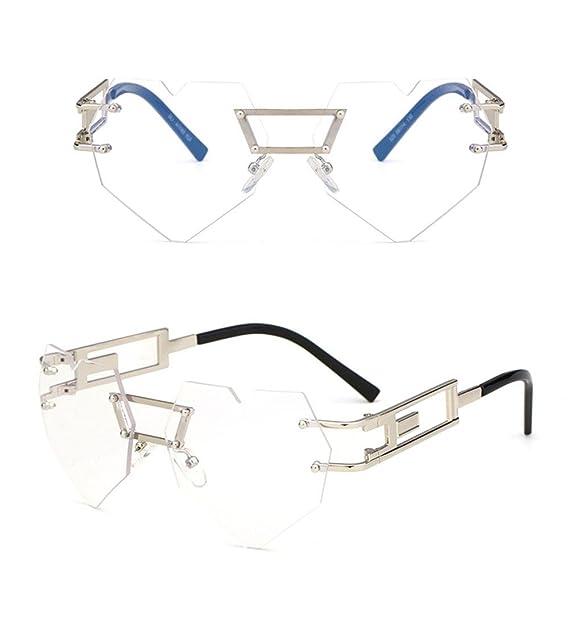 Z&YQ Fashion Occhiali da sole A forma di cuore Telaio Metallo Cambio graduale Guida viaggio bicchieri, F