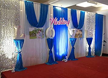 20x10ft silk fabric swag curtainchristmasbirthday partyevent wedding stage decorations - Christmas Stage Decorations