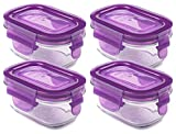 Wean Green Wean Tubs Glass Food Containers, Grape, 4 Pack