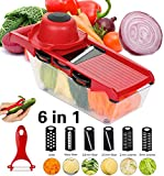 Best Mandoline Slicers - Kintty Mandoline Slicer with 6 Interchangeable Stainless Steel Review