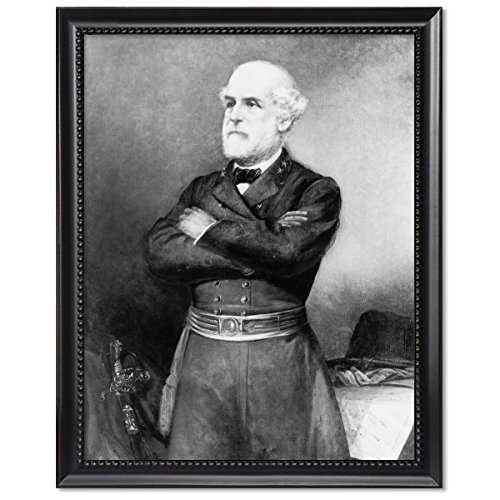 - ClassicPix Black Wood Framed Print 11x14: General Robert Edward Lee, Three-Quarter-Length Portrait