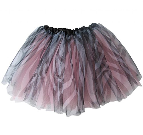 So Sydney Ballerina Basic Girls Ballet Dance Dress-Up Princess Fairy Costume Dance Recital Tutu (Zebra Pink) -