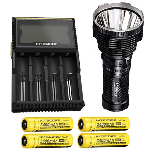 1000 Lumens  w//NL189 Rechargeable Battery Nitecore P12 XM-L2 U2 Flashlight