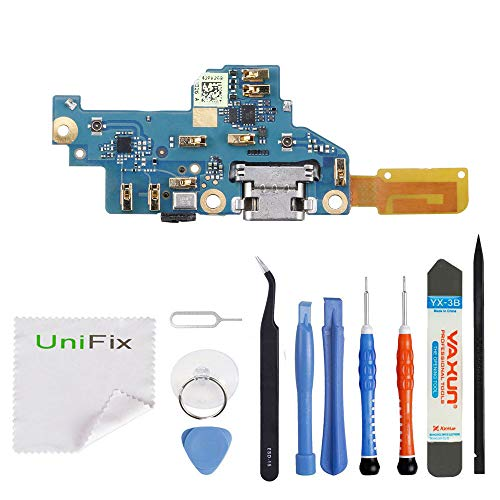 (Unifix USB Charging Port Dock Connector Flex Cable Assembly Replacement + Mic for Google Pixel 5.0 (All Carriers))