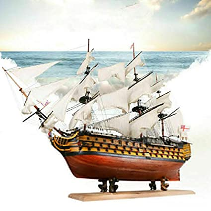 Amazon.com: HMS Victoria 1765 Western Wooden Sailboat Royal ...