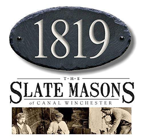 HOUSE NUMBERS (CARVED SLATE) Address Plaque Marker Sign Mailbox #1S (Lamppost House Number)