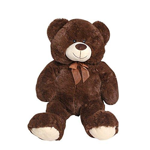 Teddy Bear Brown Dark (HollyHOME Teddy Bear Plush Giant Teddy Bears Stuffed Animals Teddy Bear Love 36 inch Chocolate)