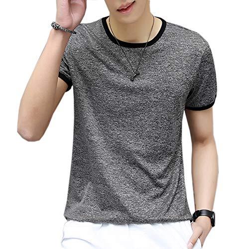Kiden Tシャツ メンズ 半袖 ゆったり 吸汗速乾 通気 軽い 無地 シンプル おしゃれ カジュアル 夏 トップス スポーツ シャツ