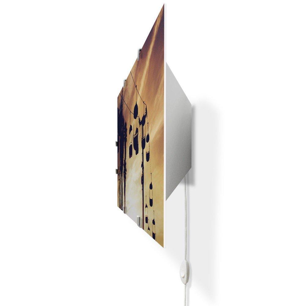 banjado Glas Wandlampe LED Leuchte Innen Wandbeleuchtung Schalter Sessellift