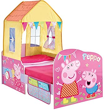 Peppa Pig Toddler Bed and Canopy by HelloHome  sc 1 st  Amazon UK & Peppa Pig Toddler Bed and Canopy by HelloHome: Amazon.co.uk ...
