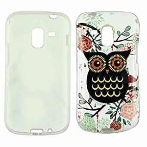 IUNEED Samsung Galaxy Trend Duos S7562 Silicone Case TPU Bling Design Owl Soft Cover Skin (C)