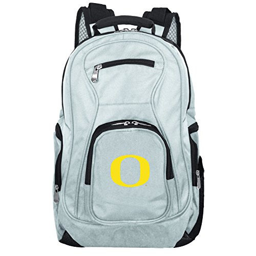 NCAA Oregon Ducks Voyager Laptop Backpack, 19-inches, Grey