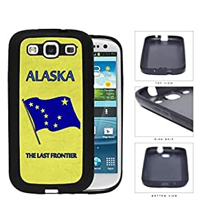 Alaska State Car Tag License Plate Design Yellow and Blue Hard Rubber TPU Phone Case Cover Samsung Galaxy S3 I9300
