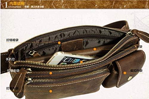 潮牛英国のレトロメンズレザー财布人格アウトドアレジャー斜めクロスヘッダー狂牛の革のメンズバッグ3162