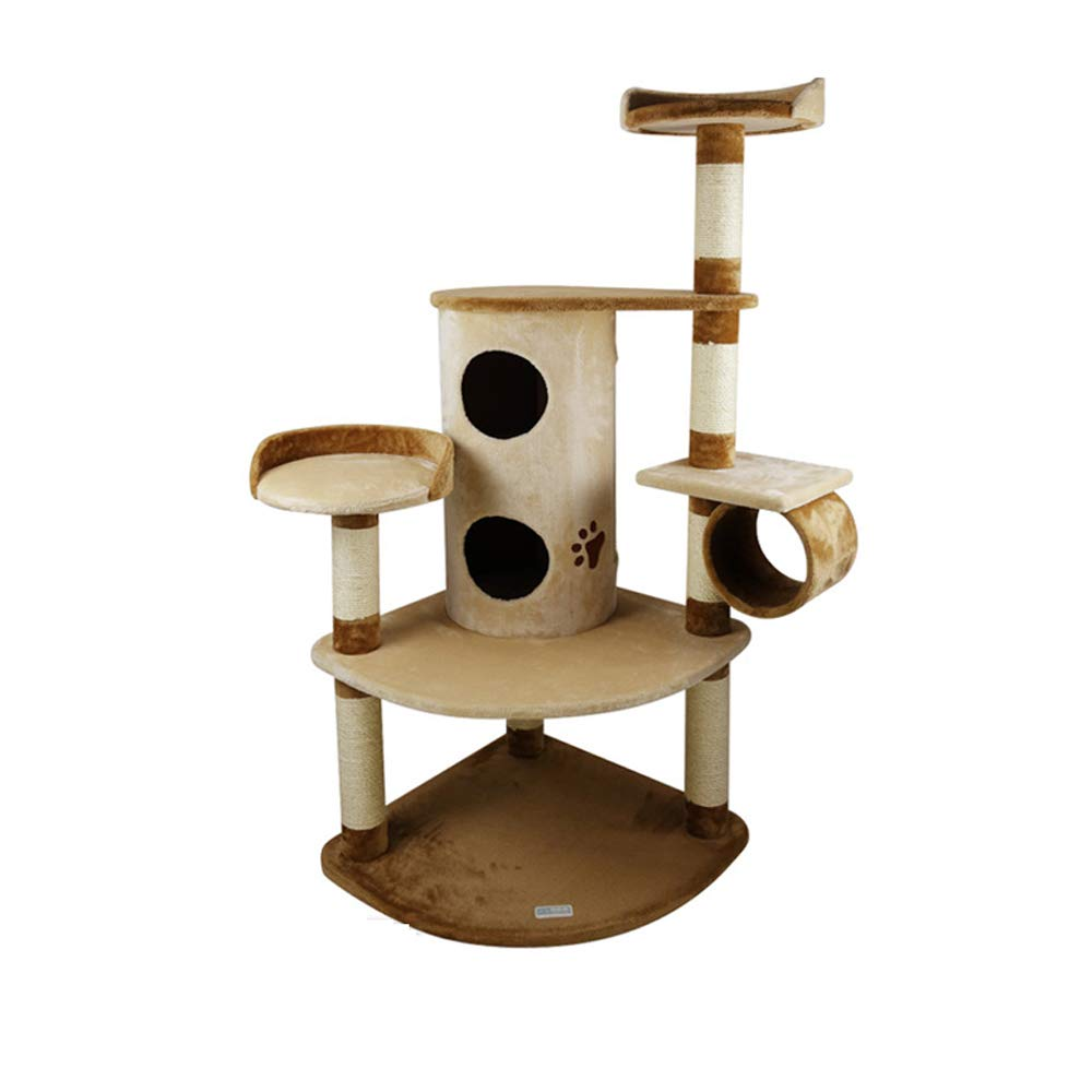 Cat tree activity center large cat climbing frame grabbing board sisal rope winding cat grinding claws multi cat family recommended