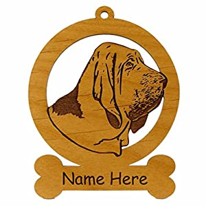 Bloodhound Head Ornament 081805 Personalized With Your Dog's Name 16