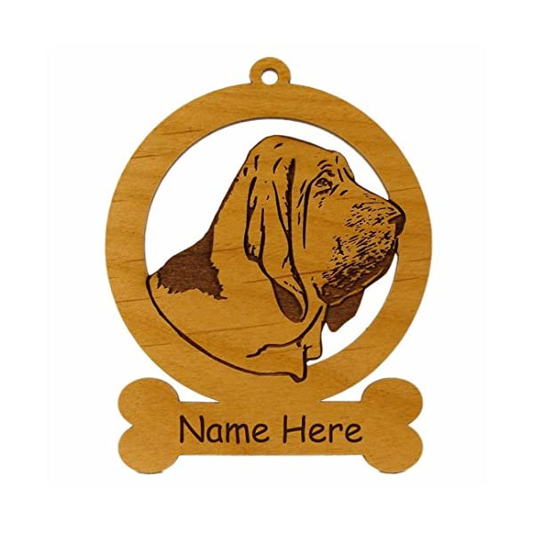 Bloodhound Head Ornament 081805 Personalized With Your Dog's Name 1