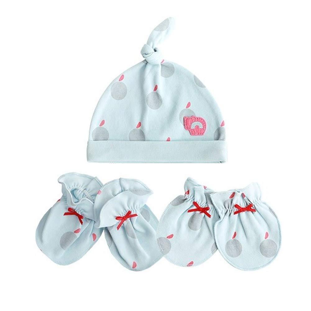 Pilli n imps Newborn Baby Socks Beanies Glove Set Premium Pure Cotton Blue 0-6 Months (Set of 3) by Pilli n imps