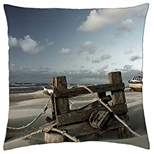 Autumn at the Baltic Sea - Throw Pillow Cover Case (18
