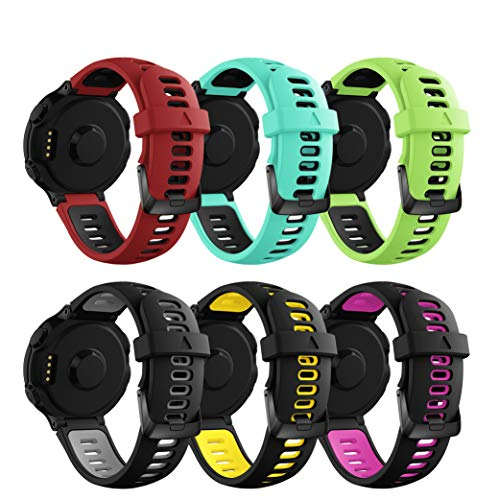 CSVK Compatible Garmin Forerunner 735xt Band,Replacement Adjustable Accessory Watch Straps Soft Silicone Sports Wristband Bracelet for Garmin Forerunner 230/235/620/630/735XT Fitness Smart Watch