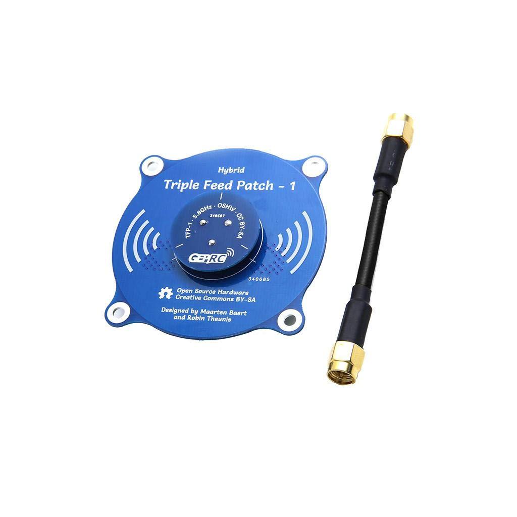 Barlingrock 5.8G Panel de Antena FPV para Pagoda Pro 9.4 dBi de Alta Ganancia TX RX SMA Hembra con Adaptador de Cable SMA para FPV Racing Drone
