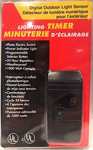 Digital Outdoor Light Sensor Lighting Timer