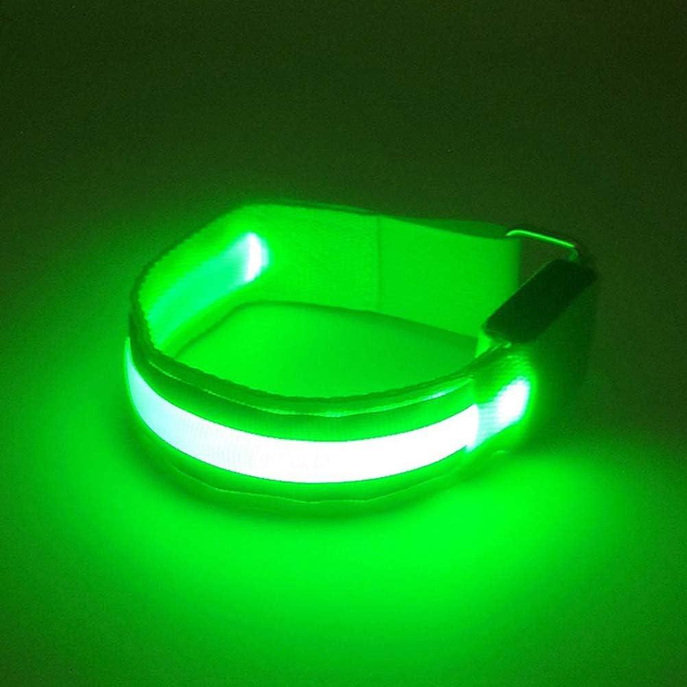f/ür Radfahren Laufen wiederaufladbar /über USB Leikance LED-Leuchte Nacht 2 St/ück Leuchtarmb/änder Training