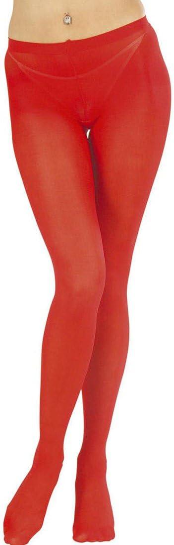 Rote Feinstrumpfhose mit Glitzerflammen 40 DEN Pantyhose Teufelin Strumpfhose