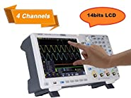 OWON XDS3104AE Oscilloscope, 100 MHz, 4 channels standard with Touch screen I2C/SPI/RS232 decoding/CAN decoding