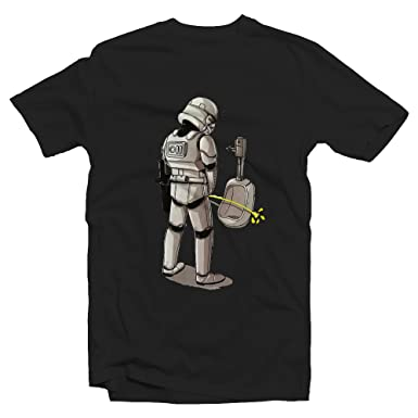 9d7647515 Stormtrooper Peeing Against Wall Tshirt - Loose Fit - SMALL BLACK