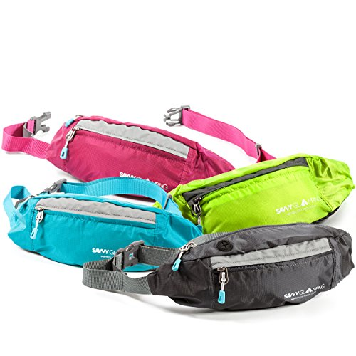 Waist Pack for Women w/ Convenient Headphone Hole - Slim Yet Spacious without being Bulky - Fits Wallet, Keys, and Phone - Lightweight Fanny Pack Great for Hiking, Walking, Camping, - Things To When Camping Take
