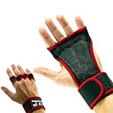 Mava174; Silicone Padded Gym Workout Gloves  Callus Protector Glove - Crossfit Hand Wraps - Grips for Gymnastics - Gloves with Wrist Support - No Chalk  Gym Gloves for both Men & Women