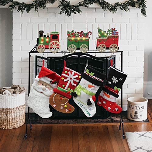 FORUP Christmas Stocking Holder Stand Hangers (Christmas Train)