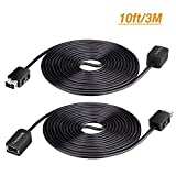 SNES Classic Controller Extension Cable - [3M/10ft] Techole Durable SNES Extension Power Cord for Super Nintendo Classic Edition Controller (2017 & 2018), Mini NES Classic Edition (2016) - 2 Pack