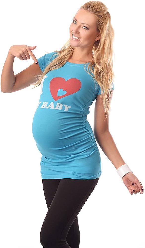 Adorable Slogan Cotton Printed Maternity Pregnancy Top T-shirt 2005 Love baby