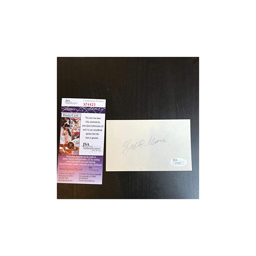 Lefty Grove Signed Autographed Index Card Hall Of Fame With COA JSA Certified MLB Cut Signatures